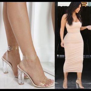SOLD- Ego Clear Transparent PVC Heels